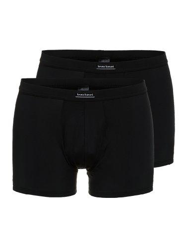 Bruno Banani Herren Pant 2 Pack Short Simply Micro, Einfarbig, Gr. X-Large (Herstellergröße: 7), Schwarz (schwarz 7)