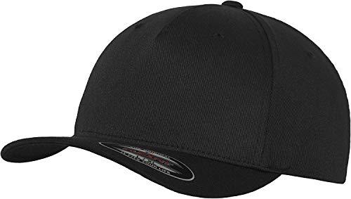 Flexfit 5 Panel Baseball Cap - Unisex Mütze, Kappe für Herren und Damen, einfarbige Basecap, rundum geschlossen - Farbe black, Größe L/XL