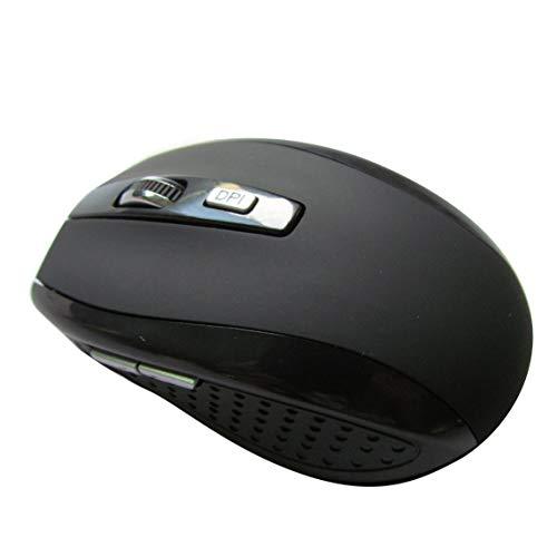 1200dpi Mini Mouse, USB Optical Wireless Computer Mouse 2.4G Receiver Super Slim Mouse para PC Ratones portátiles - Negro Mate