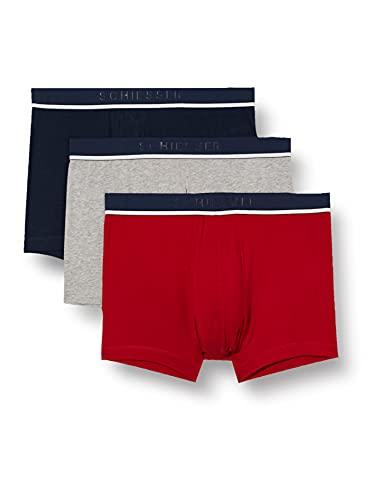 Schiesser Herren Boxershorts 3er Pack Organic Cotton - 95/5, Mehrfarbig 3, XL