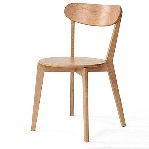 N&O Renovierungshausstuhl Esszimmerstühle Erwachsenenstuhl Einfacher Schreibtischstuhl für Büro Lounge Home Computerstuhl Traggewicht 120kg 445x475x79cm (Color : Walnut Color)