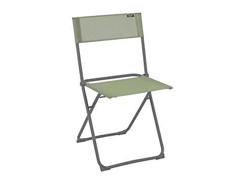 Lafuma Chaise pliante compacte, Terrasse, balcon et jardin, Balcony, Batyline, Couleur: Moss, LFM2600-8557