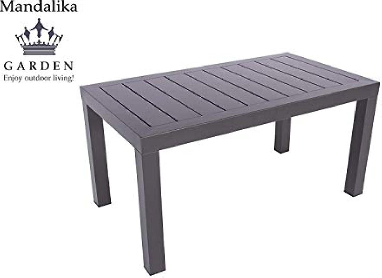 Aluminium Gartentisch Loungetisch Toledo 90 x 50 mit Aluminium Tischplatte, absolut wetterfest, anthrazit aus dem Hause Pure Home & Garden