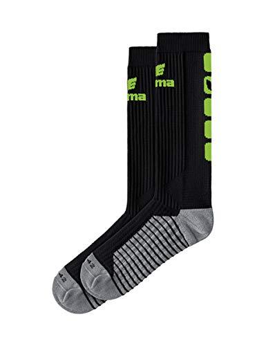 ERIMA Erwachsene Socken CLASSIC 5-C Socken lang, schwarz/green gecko, 35-38, 2181933