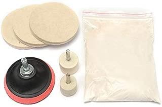 Desconocido Generic Glass Scratch Remover Polishing Kit Cerium Oxide Polishing Powder Wheel and Felt