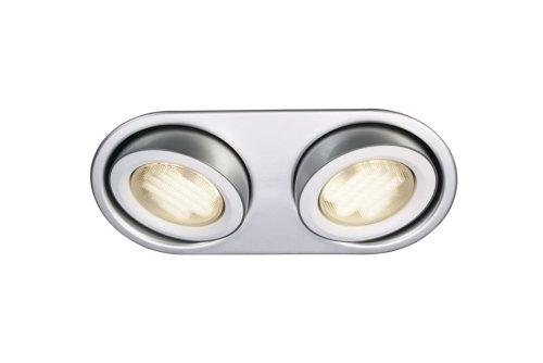 Massive 596024810 intérieur GX53 9 W Aluminium Spot de lumière – Spot de lumière (intérieur, à encastrer, GX53, fluorescent, blanc chaud, chambre, salon)