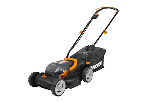 WORX WG779 40V Power Share 4.0 Ah 14' Lawn Mower w/ Mulching & Intellicut (2x20V Batteries)