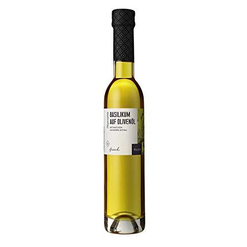 Basilikum auf Olivenöl 250 ml mit nativen Olivenöl extra I Wajos Gourmet Öl