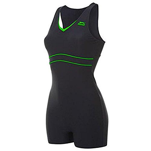 Slazenger Schwimmanzug Badeanzug mit Bein XXXL (46/ UK20) schwarz/grün
