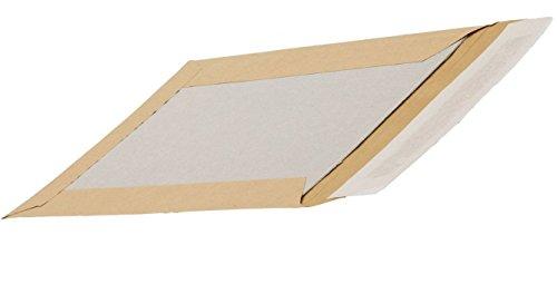 Enveloppe Cartonnée - Renforcée - Fermeture par bande adhésive - A4 - Blanc - lot de 10