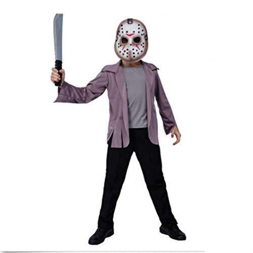 Youyuekefu Disfraces de Halloween para niños, Trajes de Cosplay, Jason Killer, Personajes de película,Trajes, Trajes de Miedo de,Trajes de Fiesta de Cosplay del Festival Fantasma (sin Cuchillos) L