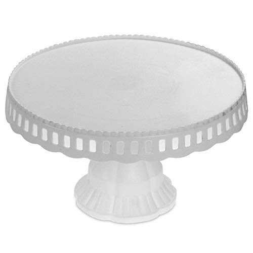 White Plastic Traditional Desserts Cake Stand Plate Display