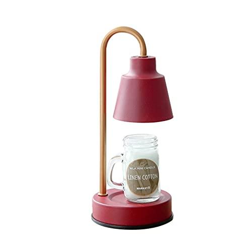 GYH Lámpara de Cera de Fusión Lámpara de Aromaterapia Creativa Fragancia de Fusión Luz Cálida Lámpara de Vela Lámparas Y Linternas Nórdicas Luz de Noche Decoración de Lámpara de Mesa (Color : Red)
