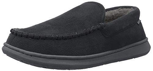 Dockers Men's Premium Ultra-Light Moccasin Slipper with Memory Foam, Size 8 to 13 (12 D(M) US, Black)