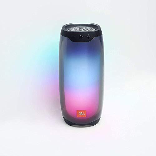 JBL Pulse 4 in Schwarz – Wasserdichter Bluetooth-Lautsprecher mit 360-Grad-Beleuchtung – Bis zu 12 Stunden Akkulaufzeit mit einer Ladung – Kabelloses Musikstreaming