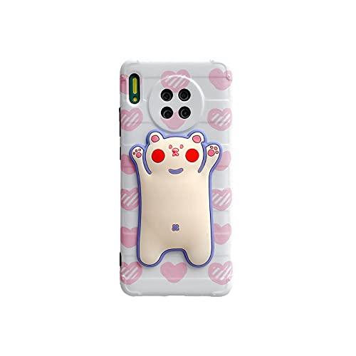 Ti'an 3D Ice Cream Strawberry Teléfono Carcasas para Huawei P30 P40 Pro mate 30 20 nova 5 4 Ins Popular Soft IMD contraportada E-para Huawei mate 30