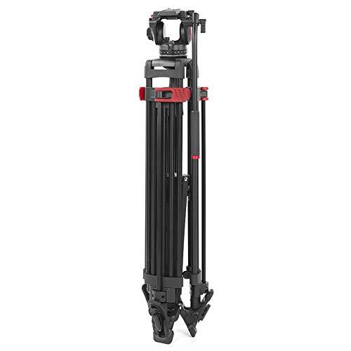 zhuolong miliboo MTT605A in Lega di Alluminio Nero Professionale riprese Video Fotocamera treppiede Ammortizzazione idraulica Staffa di ripresa a Sfera