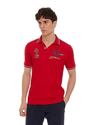 La Martina Herren Pmp311 Poloshirt, Rot (Formula One 06008), Large