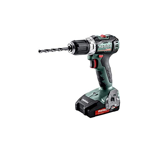 Metabo 602326500 accu-boormachine BS 18 L BL 18 V, 2 x 2 Ah Li-Ion accu's, borstelloos, incl. oplader, in koffer, max. Draaimoment: 25Nm (zacht)/ 60Nm (hard), boor-Ø: 13mm (staal)/ 32mm (zacht hout)