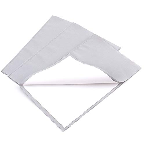 Foraineam 3 Pack Jewelry Polishing Cleaning Cloth for Cleaning Silver Gold and Platinum Jewelry Coins Gemstones Watches and Silverware