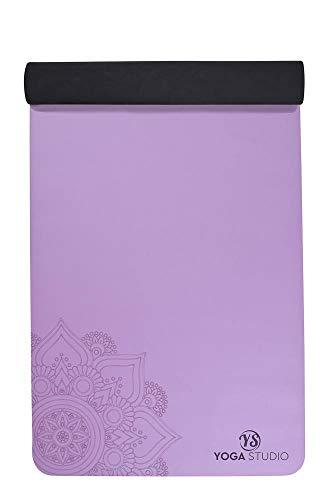 Yoga Studio tappetino antiscivolo in gomma naturale Eco friendly–mandala (4mm), Purple