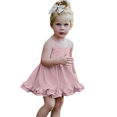 FRAUIT jurk meisjes sling armloze knit jurk eenvoudig feestjurk kinderen ruches ruches kleding kleding jurken