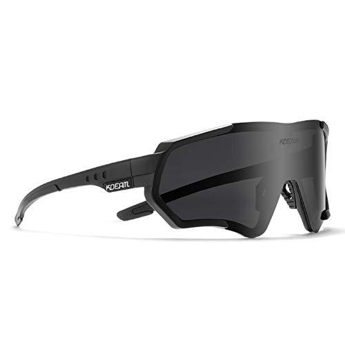 KDEAM Cycling Sunglasses Polarized UV 400 TR90 Lightweight glasses For Men & Women KD714 (C1)