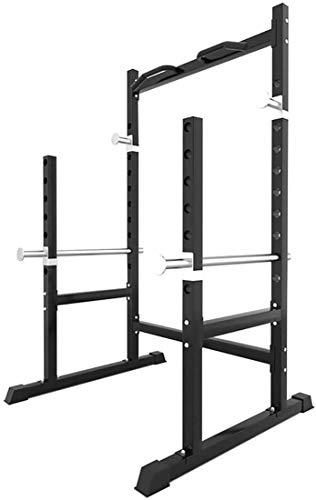 GOYAN Half Squat Rack Palestra, Supporto per Bilanciere, Half Rack Squat Sport Rack di Alimentazione Palestra Multifunzione Adatto per Home Fitness e Palestra