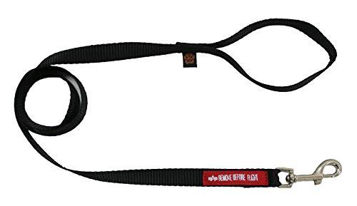 Alpha Industries Basic Dog Leash Hundeleine Black (S-M)