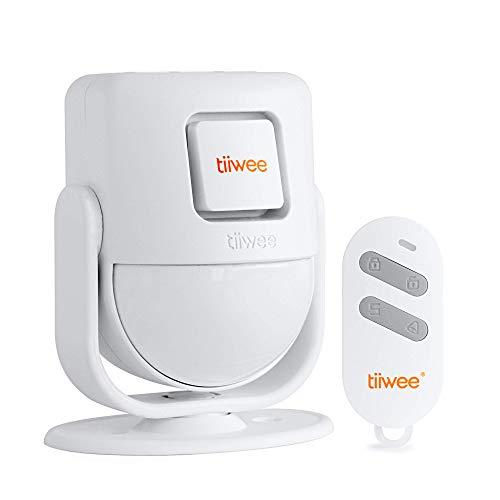 tiiwee X4 PIR Bewegungsmelder Alarm - Einbruchmeldeanlage mit Fernbedienung - 120 dB Sirene - Erweiterbar -Garagen - Gartenhaus - Wohnmobil - Türklingel und Lauter Sirenen-Sound - 2 Jahre Garantie
