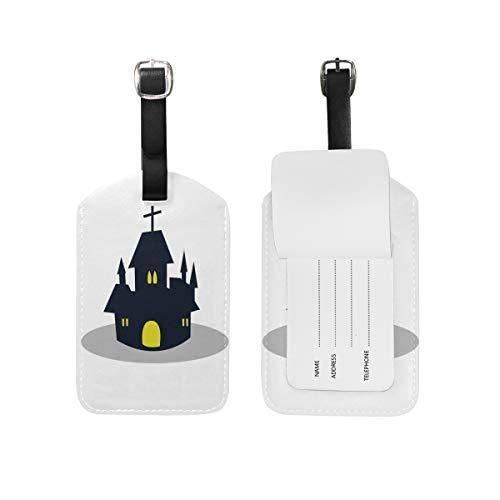 FAJRO Gepäckanhänger für Halloween, Schloss und Visitenkarten, Reiseausweis