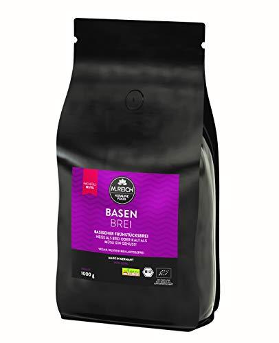 M.Reich | BasenBrei | Basisches Bio Müsli Porridge ohne Zucker | Made In Germany | Frühstücksbrei Glutenfrei Vegan | Vollkorn Hafer Frühstück Muesli Brei (1000)