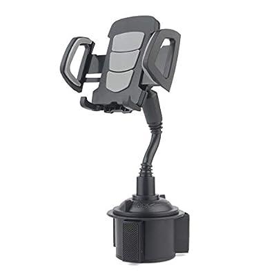 Car Cup Holder Phone Mount, Adjustable Goosenec...