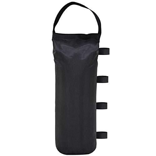 Werkapro 11332 - Lesteo Vertical antirayos UV-Oxford 600 D-Sac de Arena para Tiendas de campaña, sombrilla de Red, Color Negro