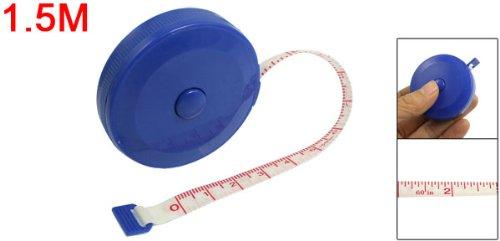uxcell巻尺巻き尺グラスファイバーテープグラスファイバーメジャーリトラクタブル測定用両面印刷ブルー1.5M