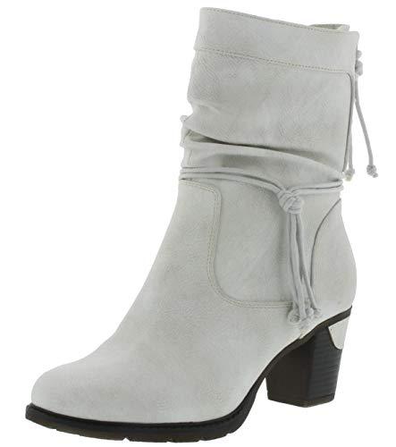 Rieker Damen Stiefeletten 96073, Frauen Stiefelette, winterschuh gefüttert Damen Frauen weibliche Lady Ladies feminin elegant,Ice,40 EU / 6.5 UK
