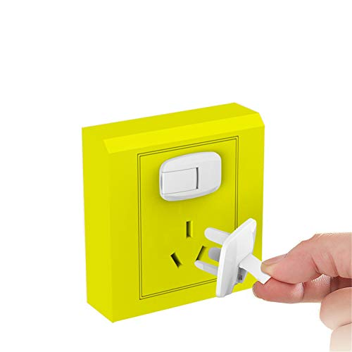 Plug and Socket Cover, Safety Power Socket Protective Cover, Anti-electric Shock Baby Safety Plug Protective Cover Power Jack Plug, 8PCS (white)