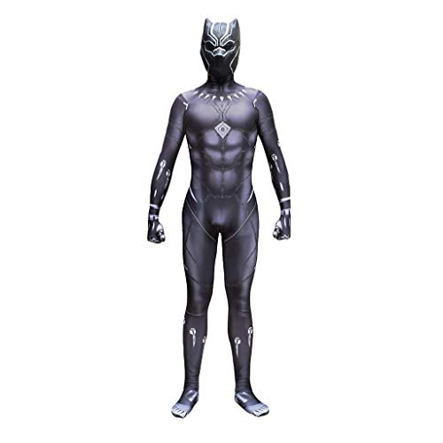 DYB Marvel Pantera Negra Disfraz de Cosplay The Avengers Disfraz Disfraz Adultos Nios Halloween Disfraz de actuacin de Navidad Prop Body Monos-Adornos navideos