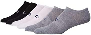 Champion Men's Logo Super No Show Socks, 6-pairs