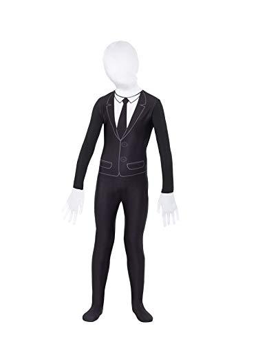 Smiffys-49674M Disfraz de niño Sobrenatural, con Mono, Color Negro y Blanco, M-Edad 7-9 años (Smiffy'S 49674M)