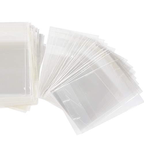 FLOFIA 400pz Bustine Trasparenti per Confetti 4 * 6cm Sacchettini Plastica Sacchetti Piccoli Autoadesivi Portaconfetti con Striscia Adesiva per Regalo Caramella Biscotti Gioielli Bomboniere