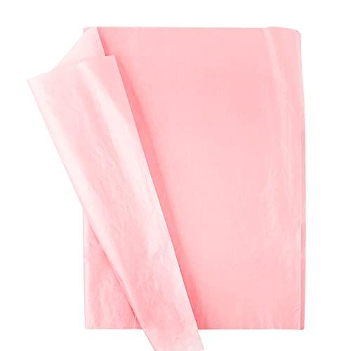 100 Blatt Seidenpapier für Geschenkpapier Geschenk Verpackung 50 x 35cm Seidenpapier Einwickelpapier zum Basteln und zur Dekoration für Geburtstag Hochzeit Weihnachten (Pink)