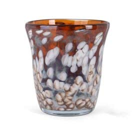 Design Vaas - Fidrio - glazen sculptuur - hazel - Sidney - gekleurd glas - mondgeblazen - 25 cm hoog
