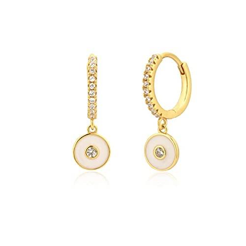 Quarter Plata de Ley 925 Oro Turquesa Piercing Pendiente de Gota Pendiente joyería de Cristal de Moda para Mujeres Fiesta de Lujo