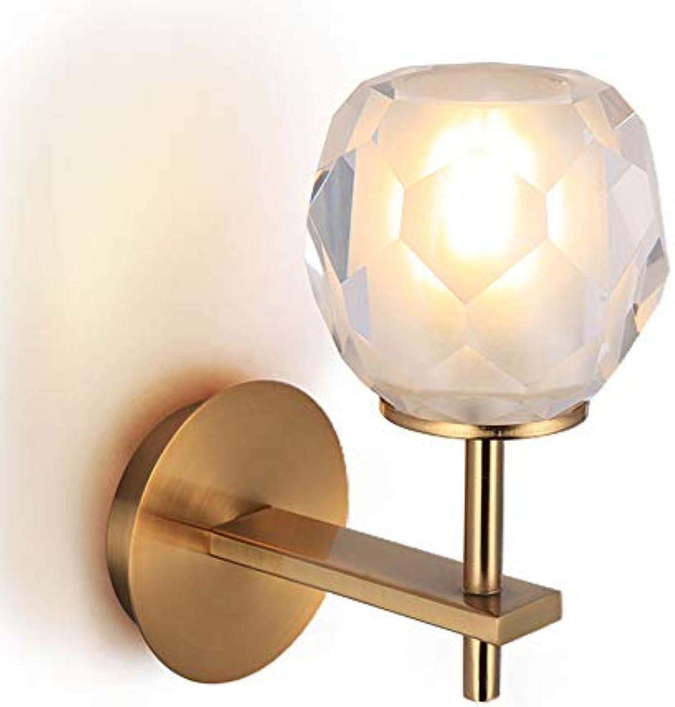 Kristallglas LED Wandleuchte Nachttischlampe Wohnzimmer Nordic modernen minimalistischen Bad Schlafzimmer Lampe Gang Wandleuchte