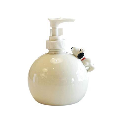 Dispenser di Sapone Bottiglia di sanificazione della mano, carino Cane Ceramic Lotion Bottle Body Hand Sanitizer e Gel Doccia Sub-imbottigliamento, adatto per bagno e cucina Erogatore Sapone