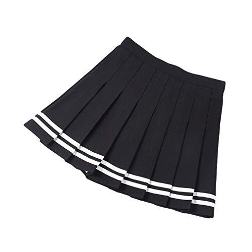 MEIHAOWEI Falda Corta Plisada para Mujer Estilo Lolita Harajuku Kawaii Faldas Rayas Dulces Mini Uniformes Escolares Lindos