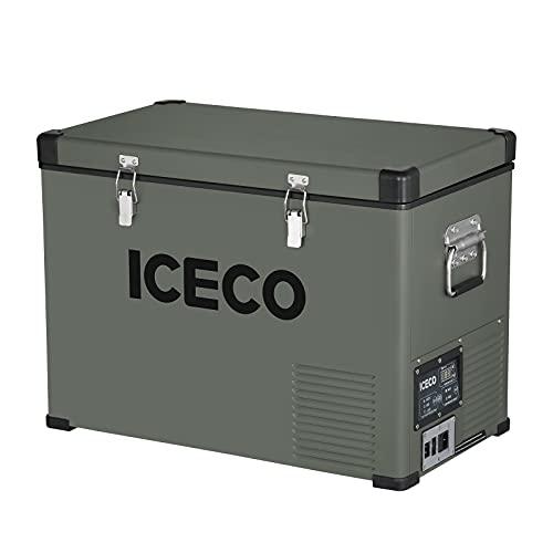 ICECO VL45 Portable Refrigerator with SECOP Compressor, 45Liters Platinum Compact Refrigerator, DC...