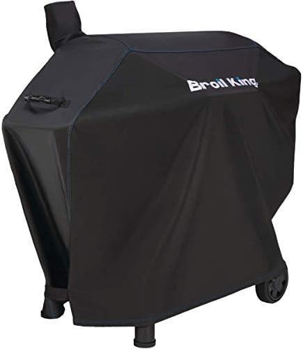 Broil King 67069 Premium Fits Pellet Regal Charcoal Offset 500 Models Grill Cover Black product image