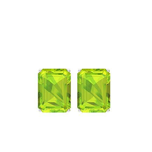 Pendientes de peridoto con certificado SGL de 3,40 quilates, diseño de peridoto verde, piedra de nacimiento de agosto, ideal para regalo, tornillo hacia atrás